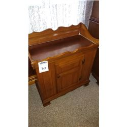 Solid Maple Dry Sink Cabinet  w/ Copper Top