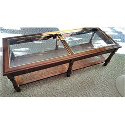 Cherry Glass Insert Coffee Table