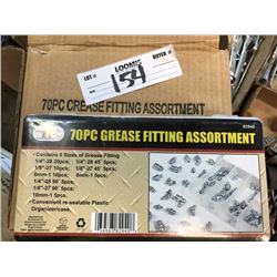 70 Pc Grease Fitting Assortment Set