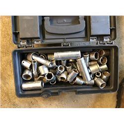 Small Tool Box, w/ Asstd. Sockets