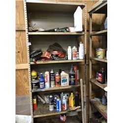 2 Metal Racks w/ Misc. Contents on Shelves
