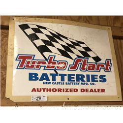 Turbo Start Batteries Sign