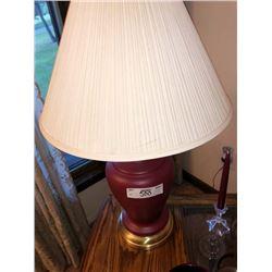 2 Red Metallic Lamps