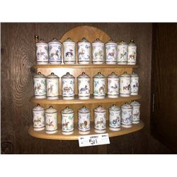 24 Pc Fine Porcelain Spice Set by Lennox