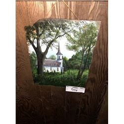 Painting on Slate Signed by R. Hageman, plus framed Print