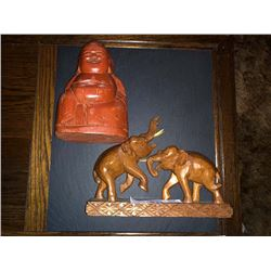 Hand Carved Wooden Elephants / Hand Carved Wooden Buddha