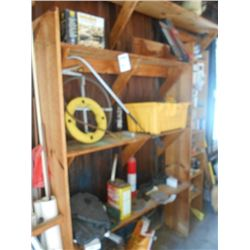 Snake, Chainsaw Sharpening Kit, Gas Cans and Asstd. Hand Tools