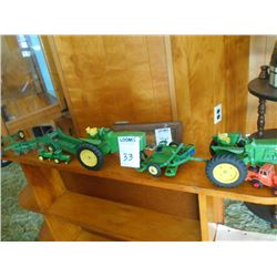 Vintage John Deere 8 Pc Toy Collection