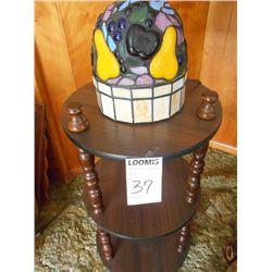 Vintage Stand w/ Leaded Lamp