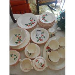 Knowles China Dinnerware Set, Cherry Design