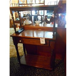 BUNDLE LOT: Vintage One Drawer Stand, Small Wooden 2 Door Cabinet