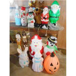 Vintage Light-Up Holiday Decorations