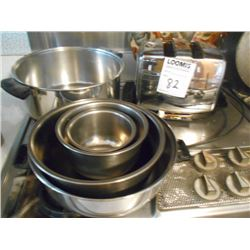 Asstd. Pots and Pans, Toaster