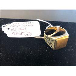 14 K Gold Men's Ring 4.2 DWT