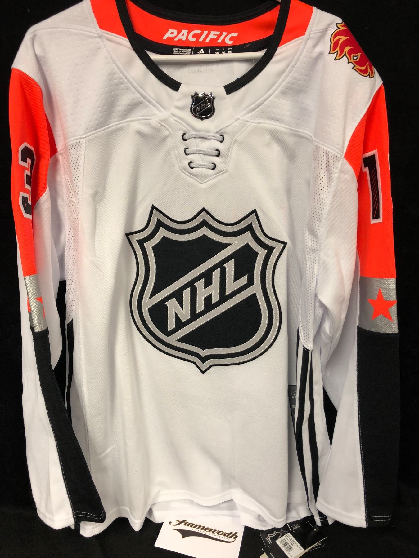 brand new d44a5 d09db JOHNNY GAUDREAU AUTOGRAPHED NHL ALL-STAR JERSEY W/ FRAMEWORTH COA