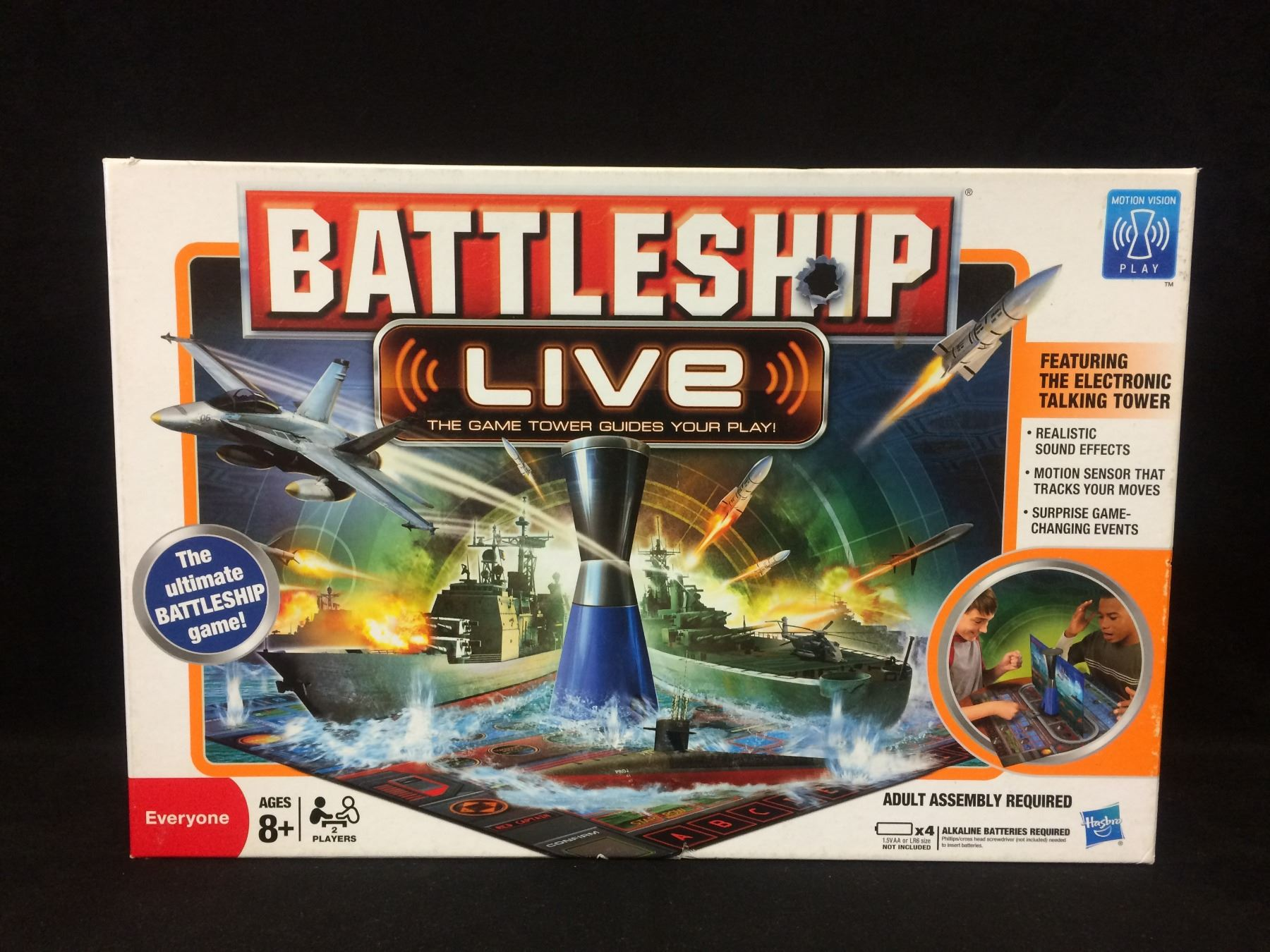BattleShip Live Electronic Board Game (Hasbro) Sound & Motion --Complete--