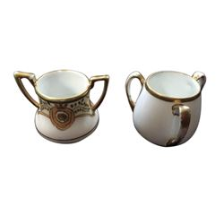 Vintage Pair of Nippon Gold Gilt Toothpick Holders