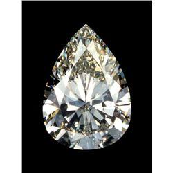 INCREDIBLE 27ct Pear Cut BIANCO Diamond