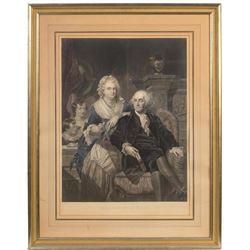 "Hand Color Engraving - ""george Washington"""