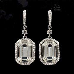 Art Deco-style Czech Crystal Drop Dangle Earrings