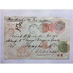 1800s London Original Postmarked Handwritten Envelope with Typed Letter