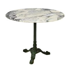 French Iron Base Bistro Table