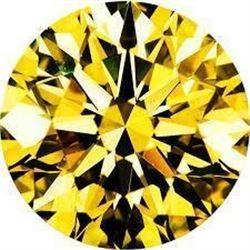 10ct Brilliant Cut Round Canary BIANCO Diamond