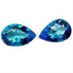"Amazing & Rare 11ctw Matching - Blue ""Pear Cut"" BIANCO Diamonds"