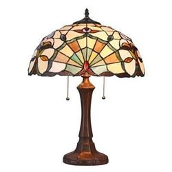"ADDIE Tiffany-style 2 Light Victorian Table Lamp 16"" Shade"