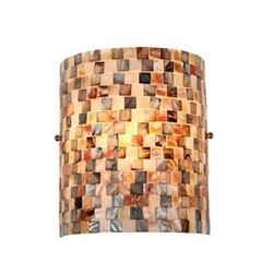 """SHELLEY"" Mosaic 1 Light Wall Sconce 8.3"" Wide"