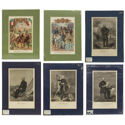 (6) Civil War Engravings, Lithos, Generals