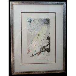 1971 Dali Etching, Song Of Songs
