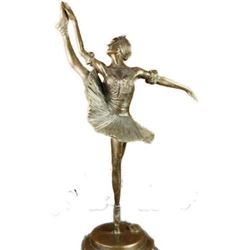 Signed Bronze Sculpture, Prima Ballerina