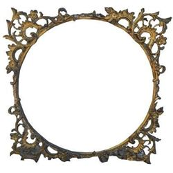 Beautiful Ornate Antique Victorian Metal Frame