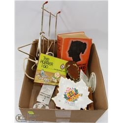 BOX WITH ESTATE COLLECTIBLES