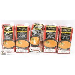 LOT OF 5 CARTONS OF TOMATO BASIL SOUP