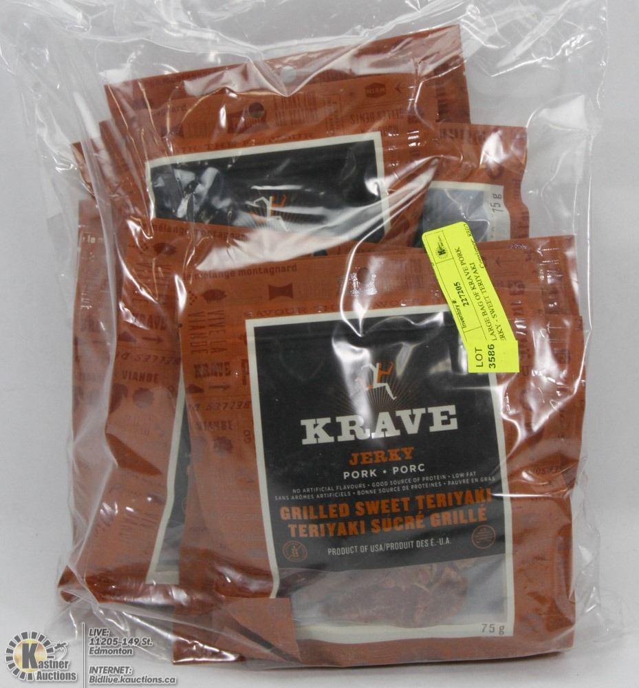 X Large Bag Of Krave Pork Jerky Sweet Teriyaki