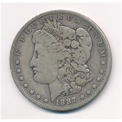 1887-O $1 MORGAN SILVER DOLLAR ML1