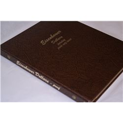 EISENHOWER 40% SILVER DOLLARS DANSCO ALBUM (INCLUDING PROOF ISSUES) 1971-1978 32-COINS