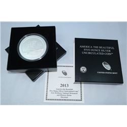 2013-P AMERICA THE BEAUTIFUL 5 OZ SILVER UNCIRCULATED COIN FORT MCHENRY NAT'L MONUMENT, MD OGP