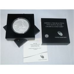 2014-P AMERICA THE BEAUTIFUL 5 OZ SILVER UNCIRCULATED COIN EVERGLADES NATIONAL PARK, FL OGP