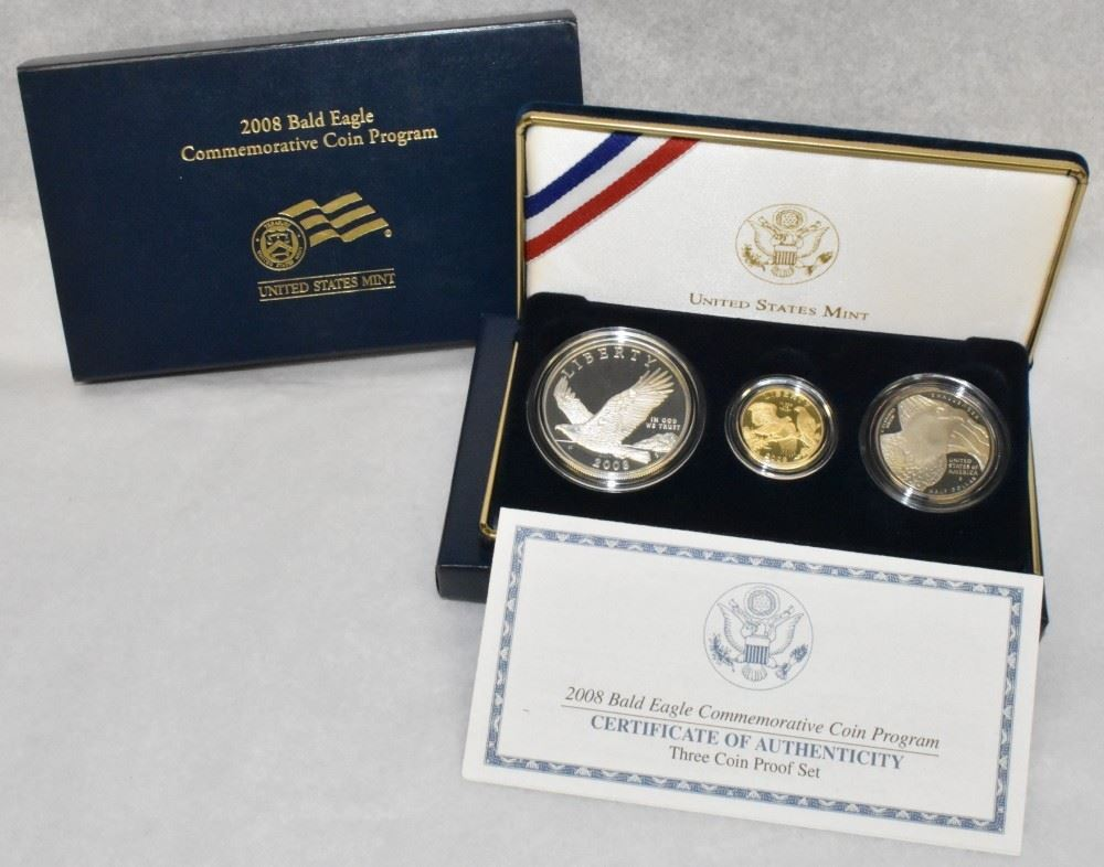 2008 Bald Eagle US Mint Half Dollar Proof Commemorative Coin with Box and COA
