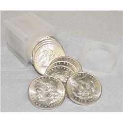 1887-P MORGAN SILVER DOLLAR BU ROLL OF (20-COINS) BRILLIANTLY UNCIRCULATED USA SILVER