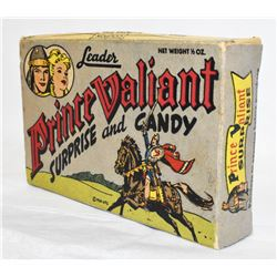 EXTREMELY RARE LEADER PRINCE VALIANT CANDY BOX 1954