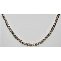 "23"" STERLING SILVER MILOR ITALY ELEGANT TWISTED CHAIN"