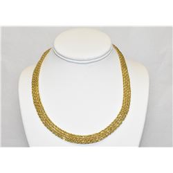 Exquisite Luxury 18 inch 14k Gold Multi-Rope chain tongue and groove clasp