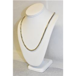 "28.5"" STERLING SILVER MILOR ITALY ELEGANT TWISTED CHAIN"