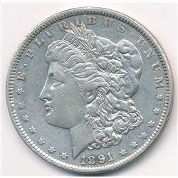1891 VF DETAILS MORGAN SILVER DOLLAR MANDY BARGAIN