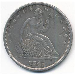 RARE 1845-O No Drapery Seated Liberty 50C Half Dollar