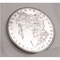 FROSTED CAMEO PROOF-LIKE RARE MORGAN 1887-S MS 64 PL